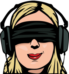 png blindfold headphone vector